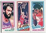 1980/81 Topps Moses Malone Rich Kelley Bobby Jones Card Houston Rockets Phoenix Suns Philadelphia 76ers