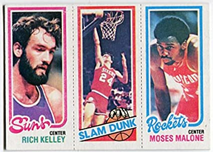 211826da8ff Amazon.com   1980 81 Topps Moses Malone Rich Kelley Bobby Jones Card ...