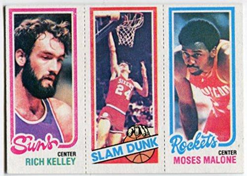 1980/81 Topps Moses Malone Rich Kelley Bobby Jones Card Houston Rockets Phoenix Suns Philadelphia 76ers 1980 Philadelphia 76ers