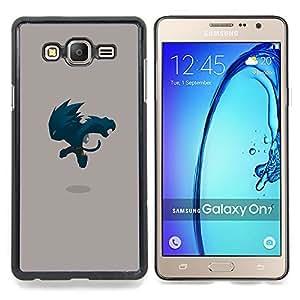SKCASE Center / Funda Carcasa protectora - Monster Saltando;;;;;;;; - Samsung Galaxy On7 O7