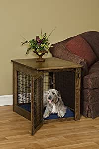 Chew Proof Dog Crate Amish Wooden - Luxurious & Decorative Dog Crate End Table Size:Medium