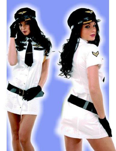 Mile High Pilot Costumes (Pilot Costume - Mile High White M/L)
