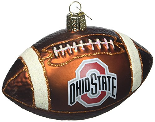 Old World Christmas Ohio State University Football Glass Blown Christmas Ornament (Ohio State Queen)