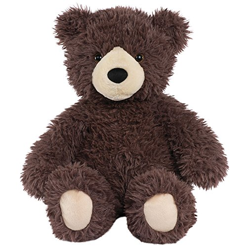 Bear Teddy Dark Brown (Vermont Teddy Bear Amazon Exclusive Oh So Soft Brown Stuffed Animals, 18 Inches)