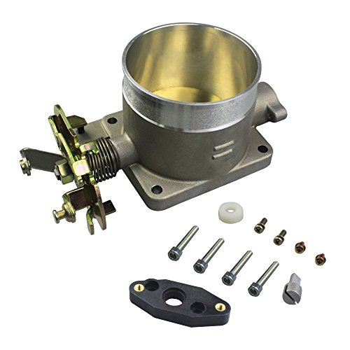 POLISHED THROTTLE BODY 75MM 75 MM FOR 96-04 FORD MUSTANG GT 4.6L SOHC DIRECT FIT ()