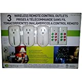 3 Wireless Remote Control Outlets