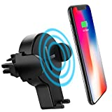 Car Wireless Charger, Fast Wireless Car Charger Car Mount Air Vent Phone Holder For Samsung Galaxy S8/S8 plus/S7/S6 Edge, IPhone X/8/8 plus and Other QI-Enabled Devices
