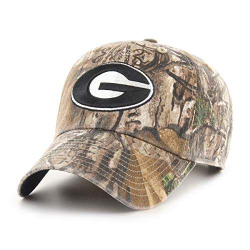 (NCAA Georgia Bulldogs Realtree OTS Challenger Adjustable Hat, Realtree Camo, One Size)
