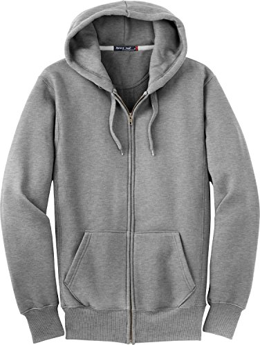 Sport-Tek Men's Super Heavyweight Full Zip Hooded Sweatshirt L Athletic Heather