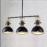 TOYM US American retro iron three-door restaurant chandelier Nordic simple creative Loft bar industrial wind table ball chandelier
