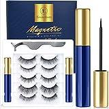 Econobum Magnetic Eyeliner and Lashes Kit, Magnetic Eyelashes for Magnetic Lashes Set, With Reusable Lashes 5 Pairs & 2 Tubes