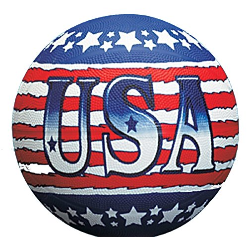 USA Theme Patriotic Red, White & Blue Regulation Size Basketball