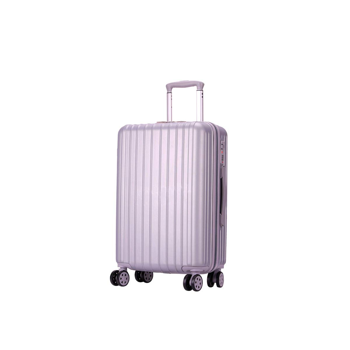 Trolley case Best Gift Travel Organizer Carry-on Luggage 20//22//24 inch Black Bahaowenjuguan Hard Spinning Suitcase Color : Silver, Size : 22