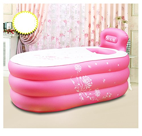 Hyun times Bath 145 80 50cm single pink inflatable children adult foldable adults bath tub by Hyun times Bathtub