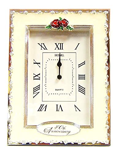 (Happy 40th Ruby Wedding Anniversary Quartz Table Clock Gift Present)
