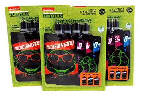 Teenage Mutant Ninja Turtles 8oz 12pc Water Bottle Set (Teenage Mutant Ninja Turtles Party Favors)