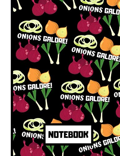 NOTEBOOK: Gorgeous Bold Onions Galore Pattern Novelty