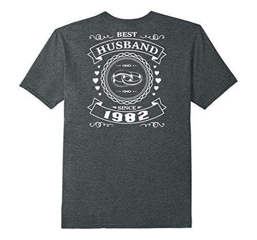 Mens Best Husband Since 35 Years Anniversary Gift For Him Shirt XL Dark Heather