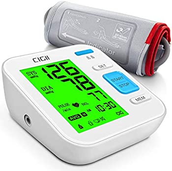 CIGII Automatic Blood Pressure Monitor With 3 Color LCD Backlight