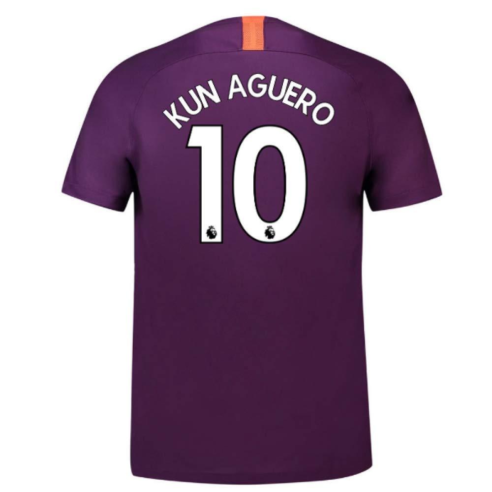 2018-2019 Man City Third Nike Football Soccer T-Shirt Trikot (Sergio Aguero 10) - Kids