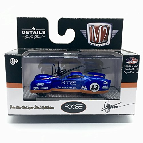 M2 Machines FOOSE COUPE Land Speed Racer (Foose Blue By You w/Orange Stripes) Chip Foose Series Release 3 - Castline 2016 Special Edition 1:64 Scale Die-Cast Vehicle (CF03 16-38)