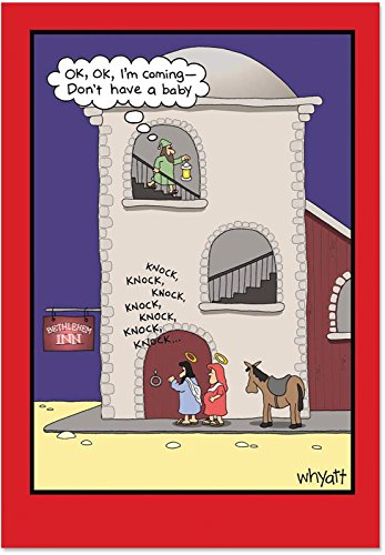 NobleWorks ''Dont Have a Baby'' Funny Merry Christmas Greeting Card, 5'' x 7'' (1651)