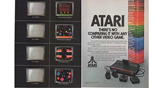 Magazine Print Ad: 1982 Atari Space Invaders, Missle Command, Asteroids Video Games,There's No Comparing it With any Other Video Game 2 pages