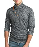 ISHOP-Tech Men's Autumn Winter Ribbed Long Sleeve Pullover Sweater