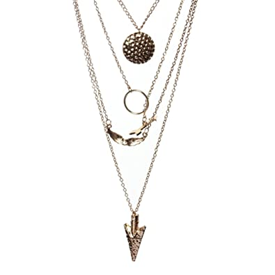 Collar Llamativo de Cadena de Oro de Cristal Irregular de ...