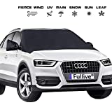 Windshield Cover - Car Windshield Snow Cover - Windshield Ice Cover - Magnet Windshield Snow Ice Cover Waterproof Ice Removal Wipers Car Snow Cover with Rearview Mirror Protector for Cars SUVs Trucks Vans