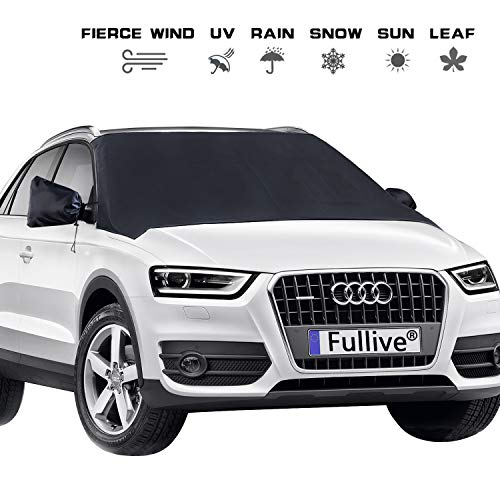 Windshield Cover - Car Windshield Snow Cover,Windshield Ice Cover,Magnet Windshield Snow Ice Cover Waterproof Ice Removal Wipers Car Snow Cover with Rearview Mirror Protector for Cars SUVs Trucks Vans