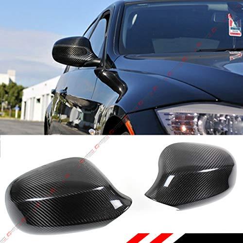 Cuztom Tuning Fits for 2009-2011 BMW E90 LCI 3 Series 325i 328i 335i 4 Door Sedan Carbon Fiber Side View Mirror Cover - Fiber Carbon 09