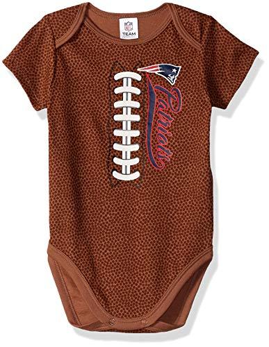 NFL New England Patriots Unisex-Baby Football Bodysuit, Brown, 18 Months ()