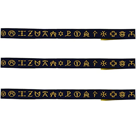 ALBERO 3 x Pulsera de tela Hierros Ganaderías de España. Azulón-dorado. 32 x 1,50cm: Amazon.es: Ropa y accesorios