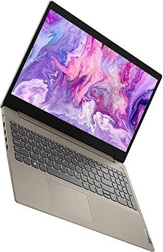 "2020 Lenovo Ideapad 3 15.6"" Touchscreen Laptop 10th Gen Intel Core i3 1005G1 12GB DDR4 RAM, 256GB PCIe SSD Almond Windows 10 Pro, Online Class, Webcam | 32GB Tela USB Card WeeklyReviewer"