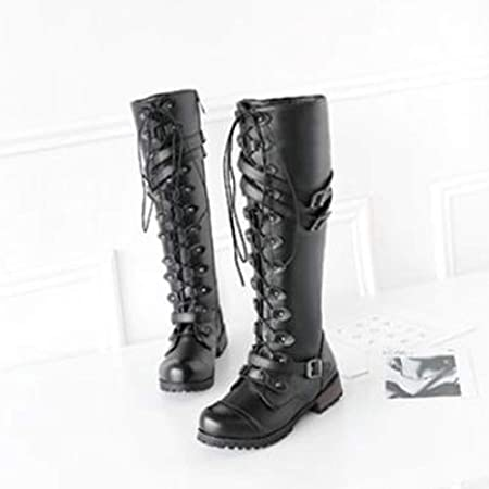 Amazon.com: Rucan Women Steampunk Gothic Vintage Style Retro Punk Buckle Military Combat Boots: Baby