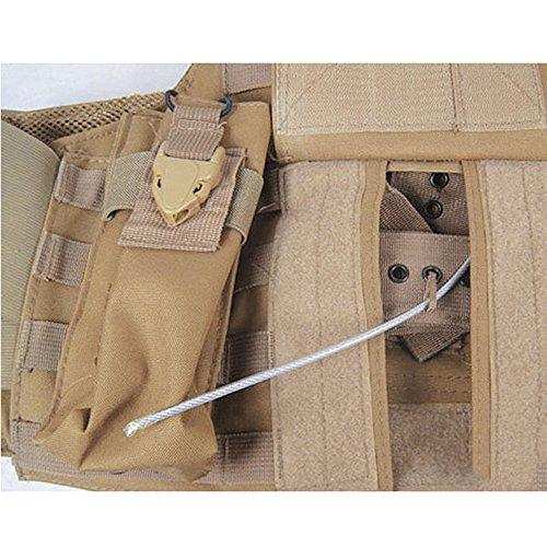 Lmeno Herren Army Taktische Einsatzweste Militär Weste Outdoorweste Schutzweste Plattenträger Plate Carrier mit Verstellbarer Gurt 7 Typ Optional Typ 1
