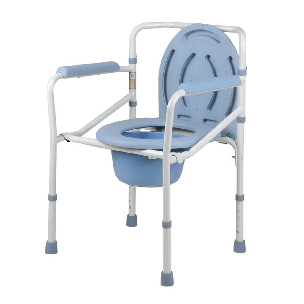 白高さ調整可能な妊婦浴衣スーツポータブル高齢者人用トイレ椅子便座椅子リムーバブルトイレ障害者安全で安全なスチールチューブトイレチェア最大150kg B07DJ393K9