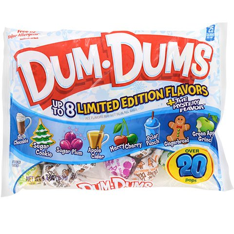 - Dum Dums Limited Edition Holiday Flavors Pops Lollipops 5.4 oz