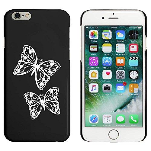 Schwarz 'Paar Schmetterlinge' Hülle für iPhone 6 u. 6s (MC00042373)