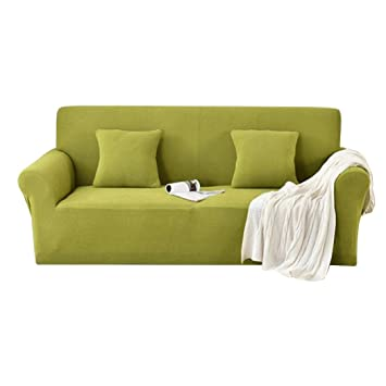 hsbais thicken stretch slipcovers for living room leather sofa non rh amazon co uk
