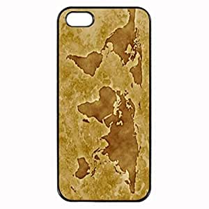 Map Brown Stylish Photo Printed Plastic Rubber Sillicone Customized iPhone 4 Case, iPhone 4S Case Cover, Protection Quique Cover, Perfect fit, Show your own personalized phone Case for iphone 4 & iphone 4S by icecream design