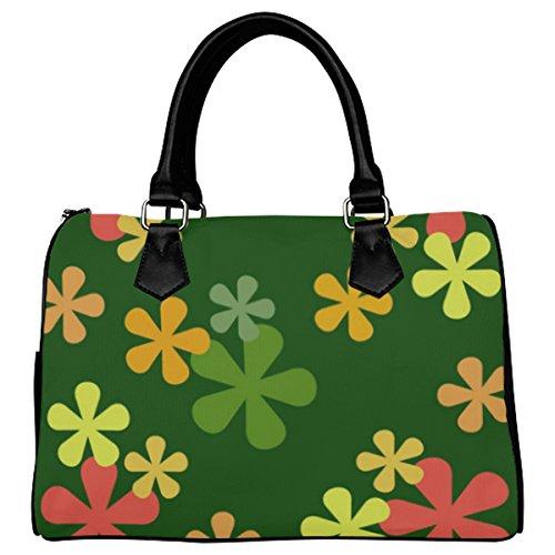 Jasonea Women Boston Handbag Top Handle Handbag Satchel Amazing Fractal Basad191941