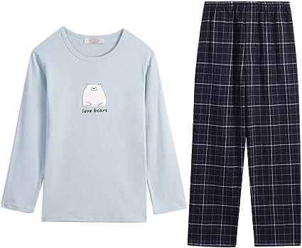 Pijamas Conjunto Cuatro Estaciones Inicio De Desgaste Algodón ...
