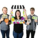 Big Dot of Happiness Tutti Fruity - Birthday Party or Baby Shower Frutti Summer Selfie Photo Booth Picture Frame & Props - Printed on Sturdy Material