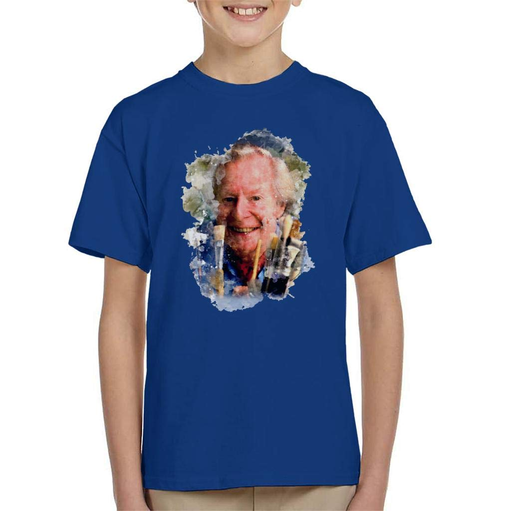 TV Times Artist Tony Hart with Brushes Kids T-Shirt