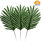 Yinhua Palm Leaves Tropical Leaf Artificial Leaves Monstera Tropical Leaves Decoration (Leaves, Pack of 30)