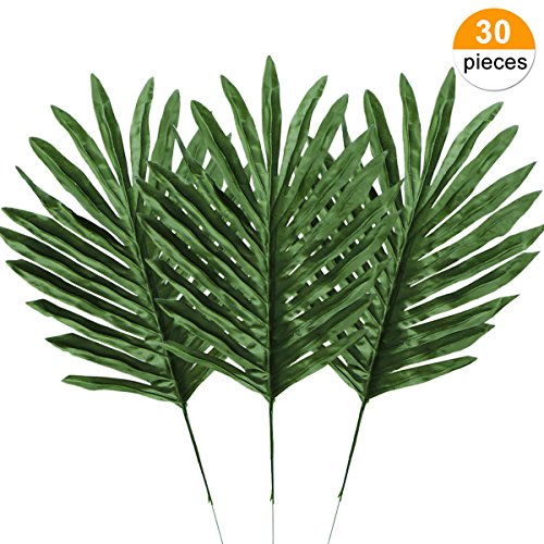 Yinhua Palm Leaves Tropical Leaf Artificial Leaves Monstera Tropical Leaves Decoration (Leaves, Pack of 30) by Yinhua