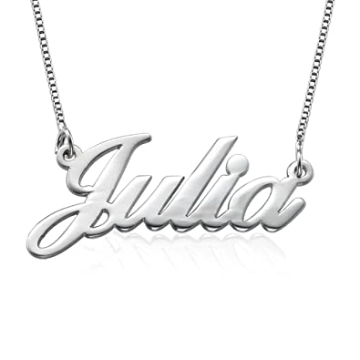 Amazon.com: 925 Sterling Silver Personalized Name Necklace ...