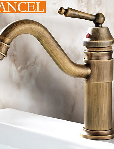 antique brass einziges Loch Einhand-Bad Waschbecken Wasserhahn